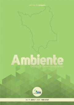 """Capa do periódico """"Revista Ambiente"""""""