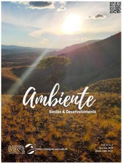 """Capa do periódico """"Ambiente: Gestão e Desenvolvimento"""""""